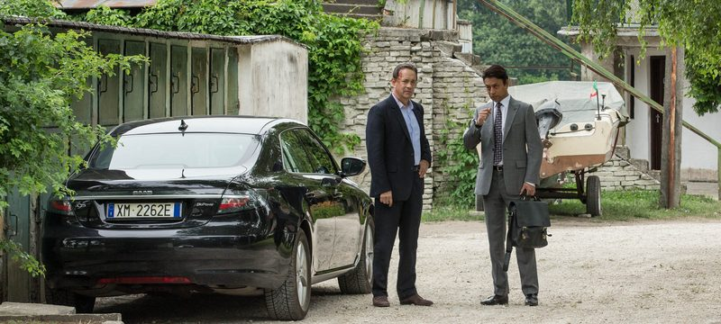 """Tom Hanks and Irrfan Kahn star in Columbia Pictures' """"Inferno,"""" also starring Felicity Jones."""