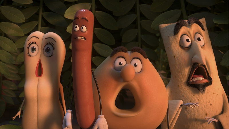 Brenda (Kristen Wiig), Frank (Seth Rogen), Sammy (Ed Norton) in Columbia Pictures' SAUSAGE PARTY.