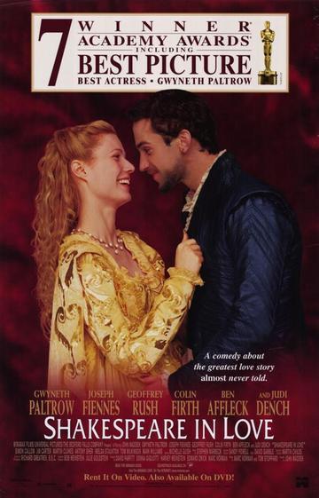 Zaljubljeni Shakespeare (Shakespeare In Love, 1998) [poster]
